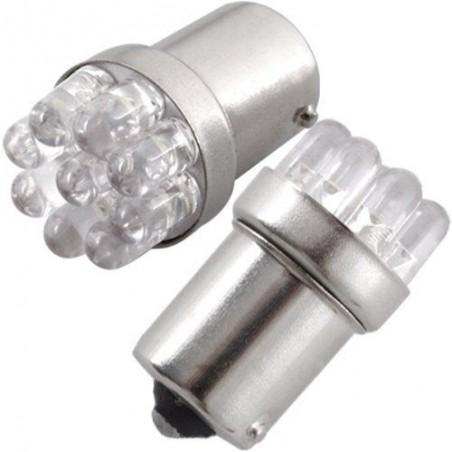 Coppia Lampade 9 LED BA15S G18 12V