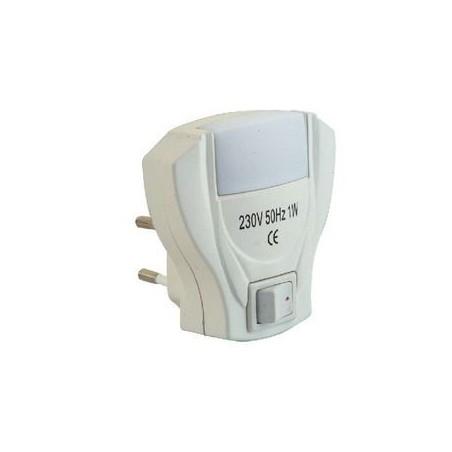 Diffusore notturno 2 LED 0.5W con interruttore