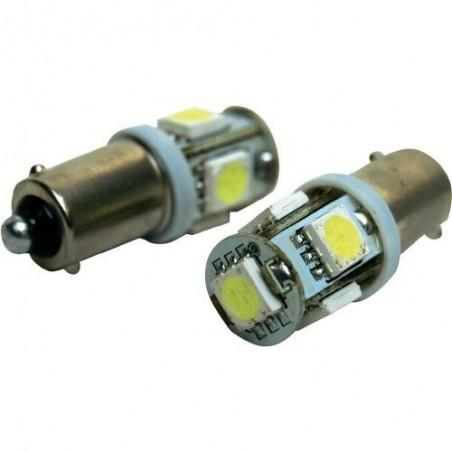Coppia Lampade LED 5 SMD BA9S Canbus per auto
