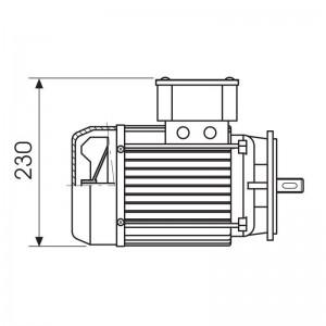 ART. 690431 - Motore elettrico monofase da 0,5CV - 700 Giri/m per MEC 200