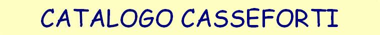 Catalogo Casseforti
